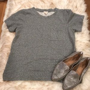 J. Crew Cotton Short Sleeve Sweatshirt. Medium